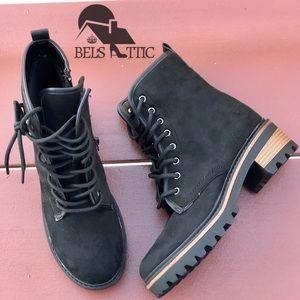 Vegan Lace Up Combat Military Boots